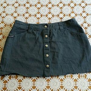 Dolce Gabbana gray mini skirt